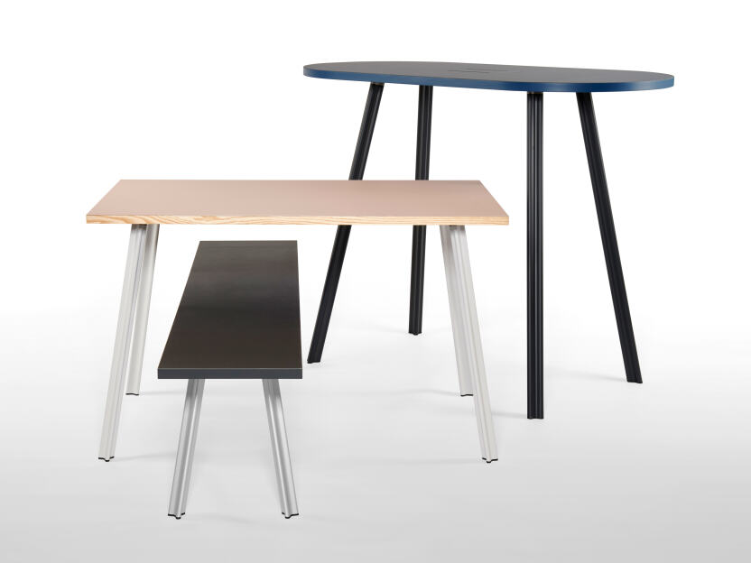 One metal table leg – many possibilities