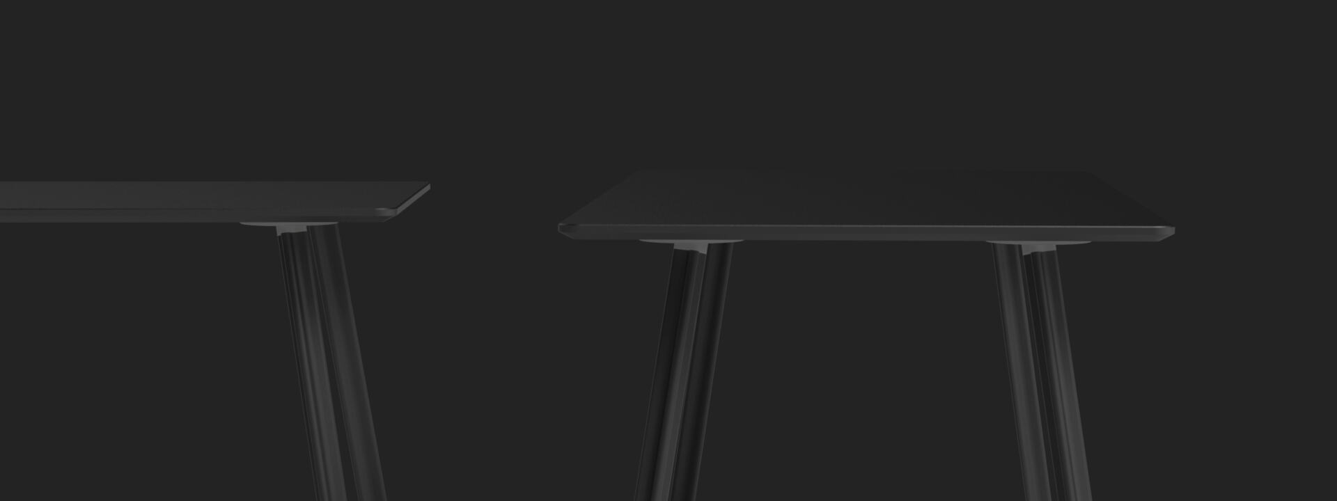 Beam Tischbein, Gestelle, Tischgestelle, Linoleumplatte, Tischbeine