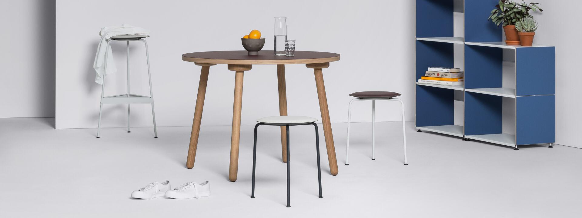 Ravioli Linoleum Hocker S, Stühle & Hocker
