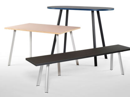 Linoleum standing table, desk & bench